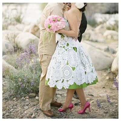 White Crochet Wedding Dress