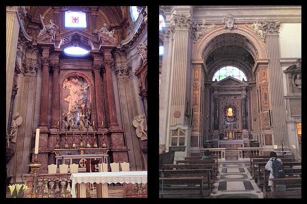 Ołtarz Borrominiego w kościele San Giovanni dei Fiorentini na via Giulia
