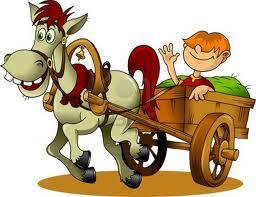 kanak-kanak berkuda