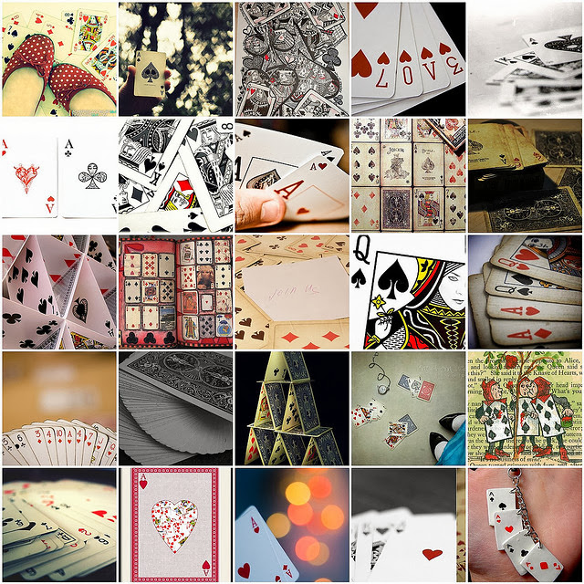 Playing cards mosaic by Raincloud☁, on Flickr