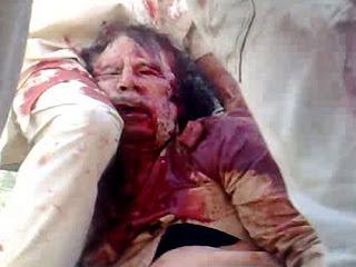 muammar gaddafi execution