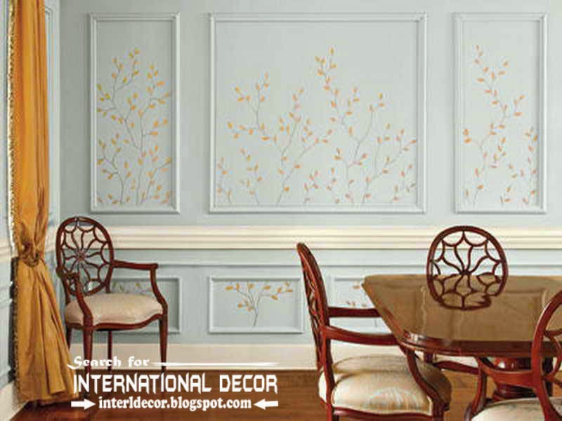 decorative wall molding designs ideas and panels for dining room interior - Moulding Designs For Walls