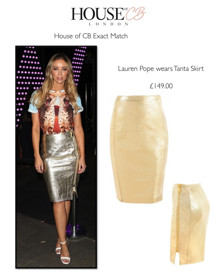 d14193f15ea frumpy to funky  Get the Look - TOWIE star Lauren Pope wears House of CB