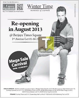 Winter Time Re-Opening & Mega Sale Carnival 2013