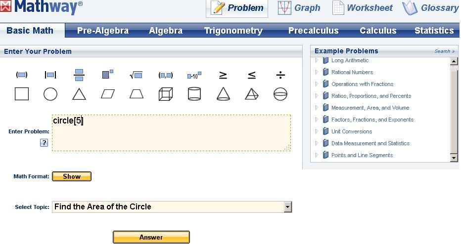 Solve any problem in Mathematics