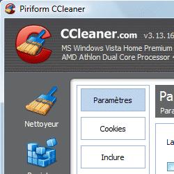 capture d'écran de CCleaner