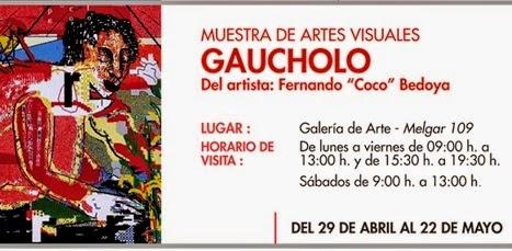 Muestra de Artes Visuales 'Gaucholo' - del 29 de abril al 22 de mayo