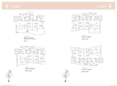 Hallmark Residences 3 bedroom Floor Plans