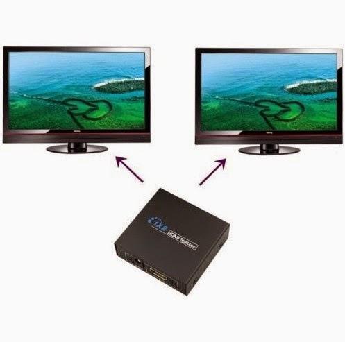 hdmi splitter, spliter hdmi, splitter video, perangkat hdmi, hdmi splitter 1 input 2 output