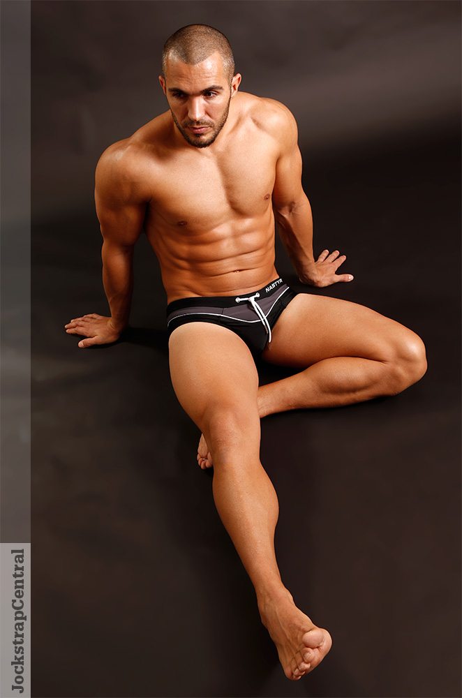 Jockstrap Central model Santos in Nasty Pig swimwear