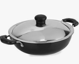 Flipkart : Kreme Non Stick Kadhai 245 mm with Steel Lid : Buy To Earn