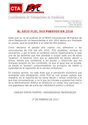 AL RICO PLD!, 563 PUESTOS EN 2016