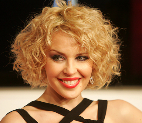 short hairstyles for girls with curly hair
