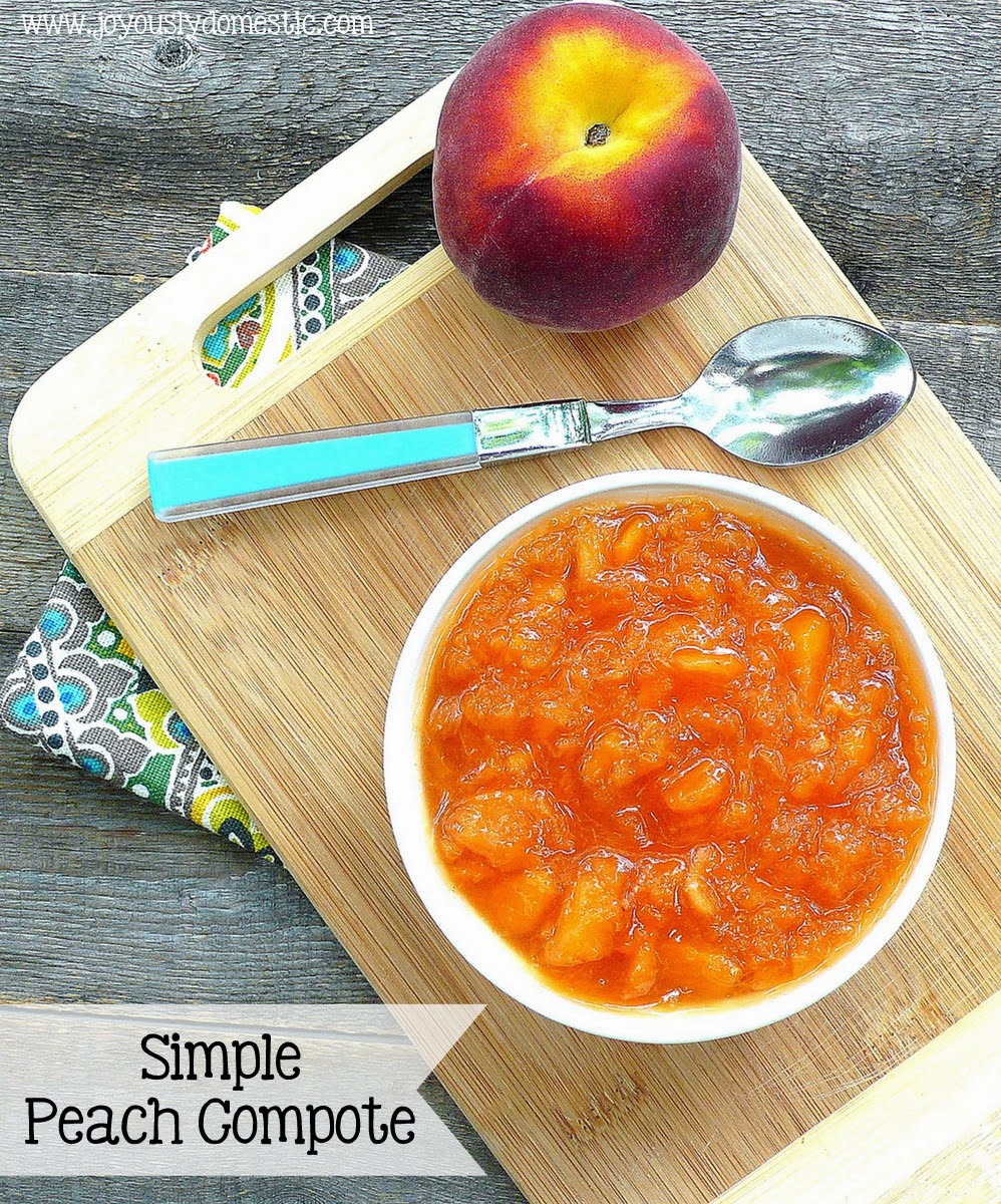 Simple Peach Compote
