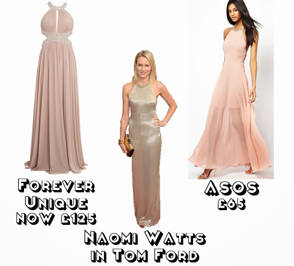 Steal Her style golden globes 2014  get the look red carpet fashion naomi watts tom ford forever unique asos