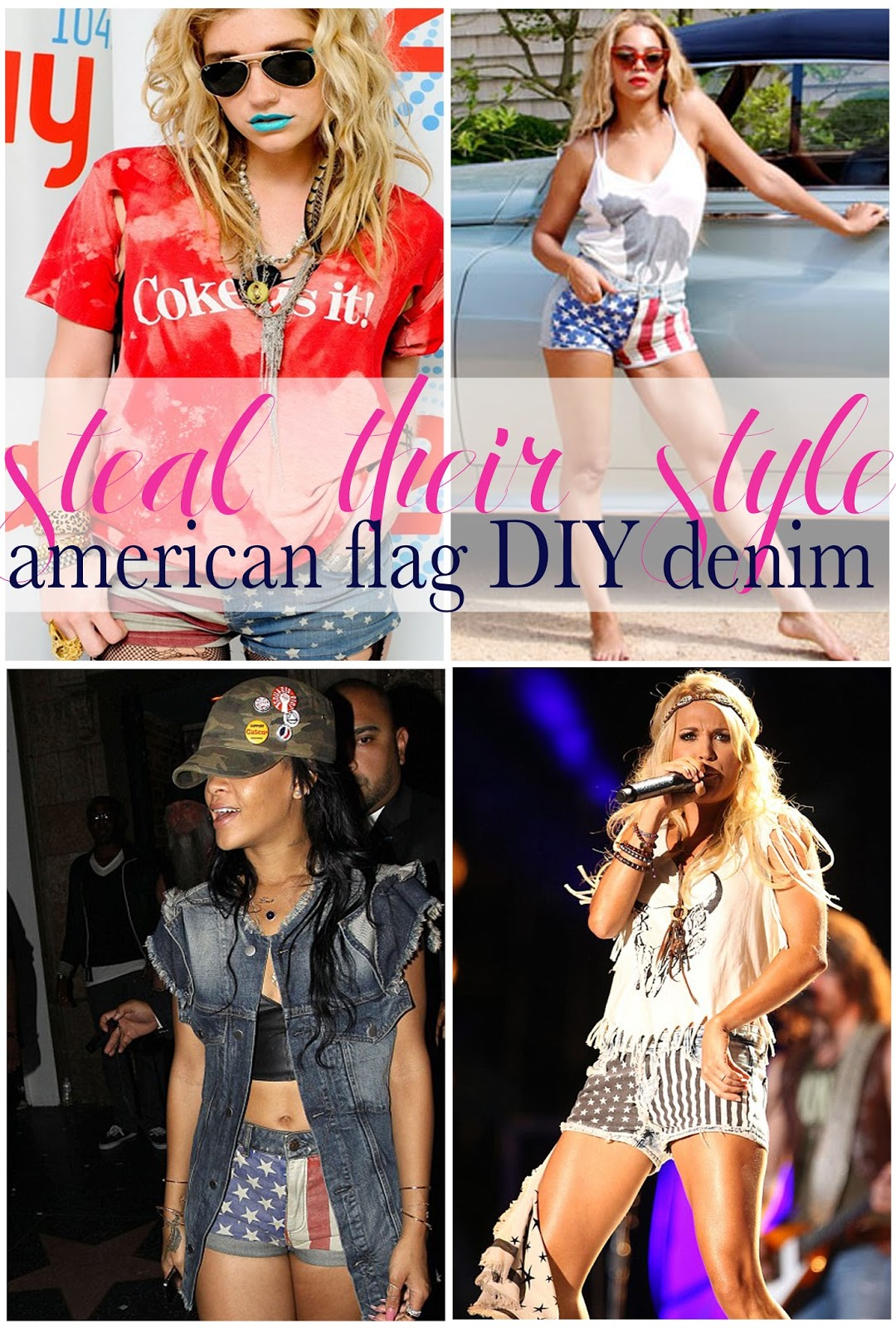 celebrities wearing american flag shorts, american flag shorts, DIY american flag shorts