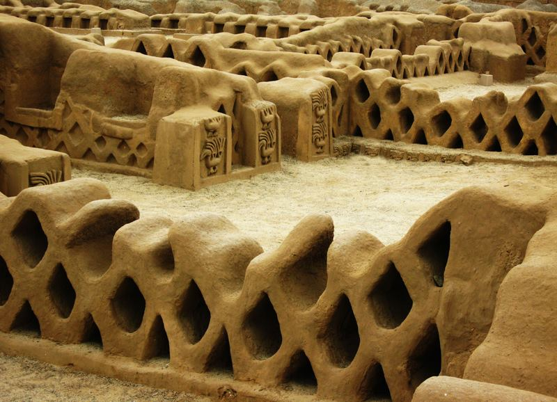 Chan Chan is the world largest adobe city and Chan means sun-sun. Chan Chan was declared World Heritage by UNESCO in 1986