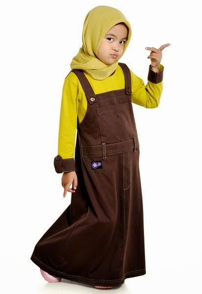 Contoh model baju muslim anak perempuan terbaru 2014 Contoh baju gamis anak