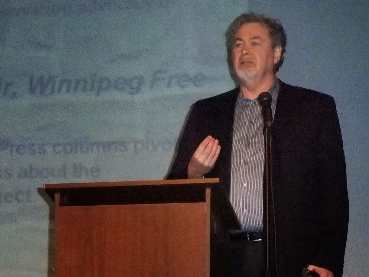 2010 Annual Preservation Award (Distinguished Service) recipient Gordon Sinclair, speaks after the presentation