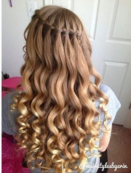Прически на длинные волосы водопад своими руками