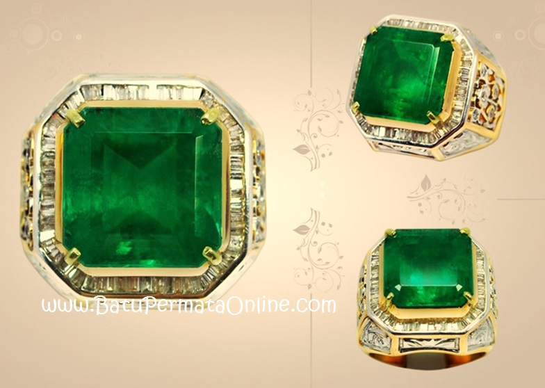 Cincin Batu Zamrud (Emerald)