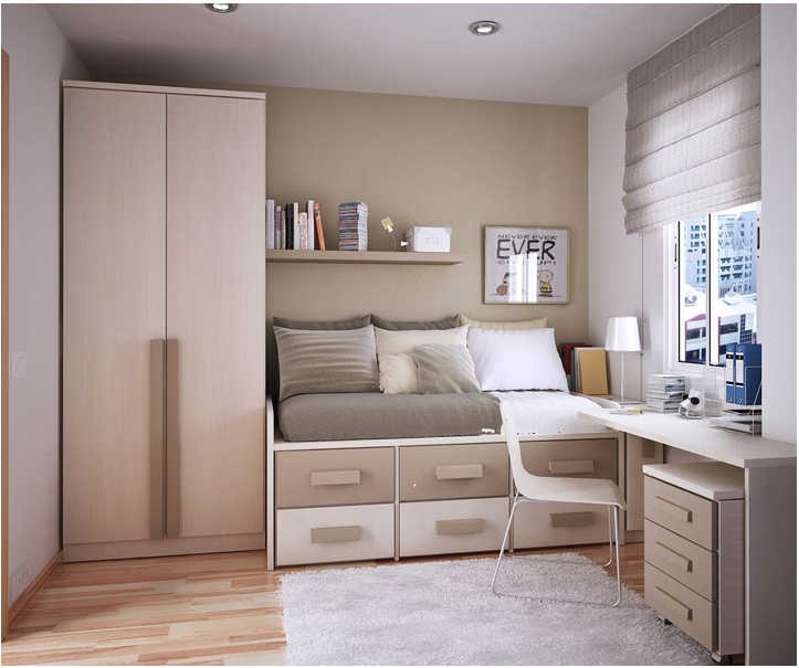 Modern design for teenage boys room design inspirations for Teenage small bedroom designs