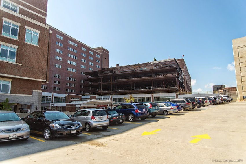 Maine Medical Center September 2014 construction in Portland, Maine Photo by Corey Templeton