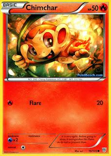 Chimchar Plasma Storm Pokemon Card