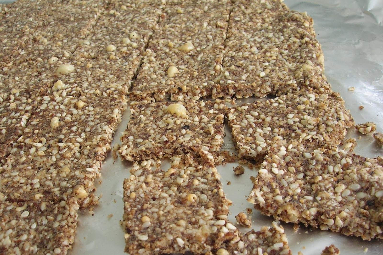 Gluten Free Sesame Pecan Crackers, grain free, low carb - Skinny GF ...