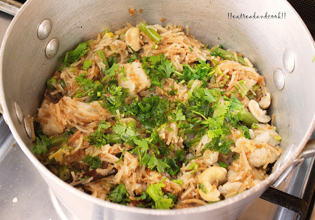 sevai pulao recipe with step by step pictures