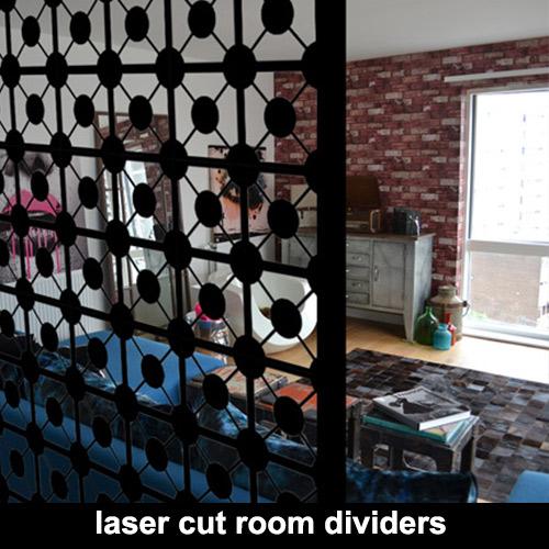 Bespoke laser cut metal room dividers