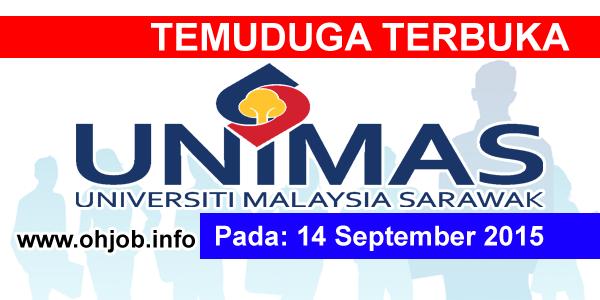 Jawatan Kerja Kosong Universiti Malaysia Sarawak (UNIMAS) logo www.ohjob.info september 2015