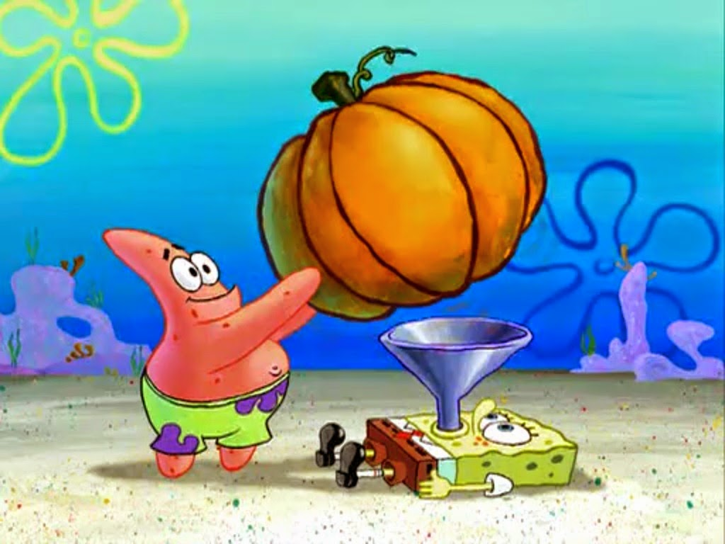Spongebob Eating A Pumpkin
