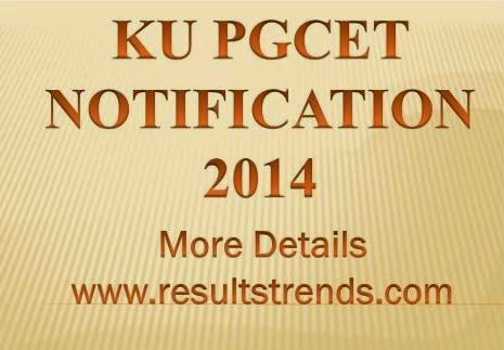 Application Form  KUPGCET 2014 Available Now |  KU PGCET Notification 2014 Application Form