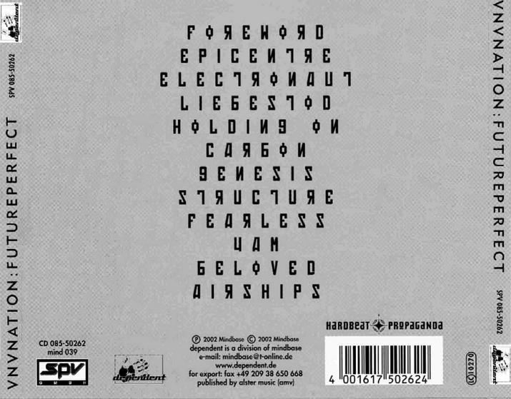 Electro Body Music Com Vnv Nation Futureperfect 2002