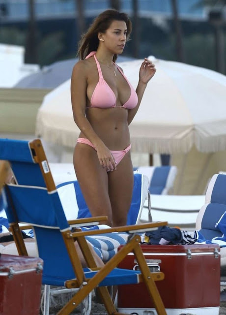 Devin Brugman Bikini Candids on the Beach in Miami