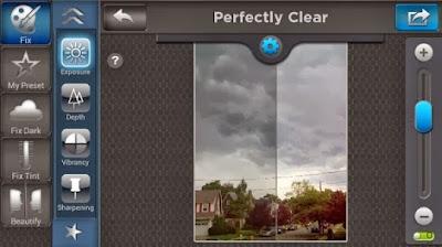صورة من تطبيق Perfectly Clear