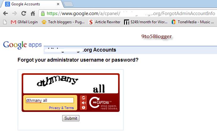 Google Apps Server Error for Newly Created Custom Domain