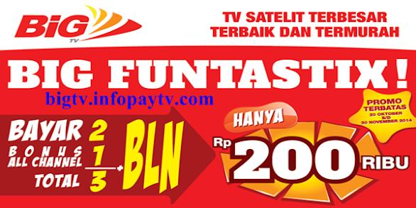 Promo Berlangganan Big TV Bulan November 2014