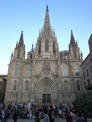 Main facade of the Barcelona Cathedral