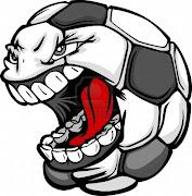 . el mundo del futbol y al mismo tiempo divertirse con las ocurrencias que . vector de dibujos animados del balon de futbol con screaming face