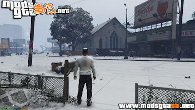 V - Mod Neve no Modo Singleplayer V1.0 GTA V PC