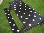 Black Picnic Table - Sold