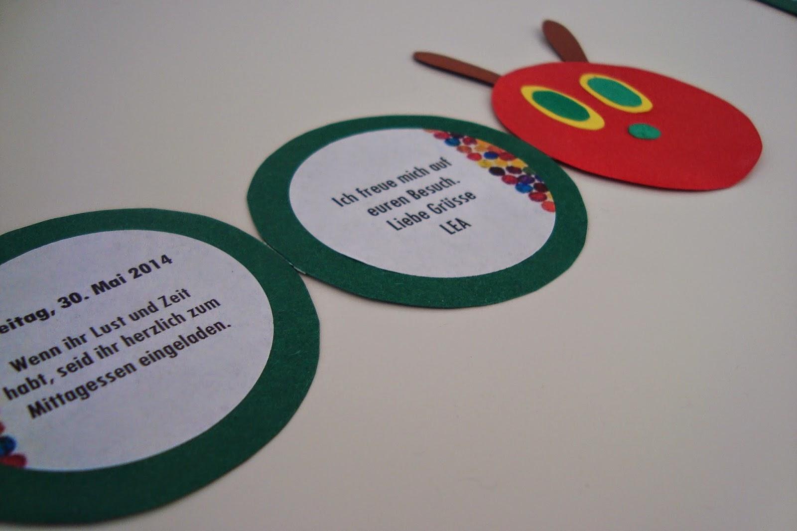 kleefalter: vorbereitungen kindergeburtstag, Einladung