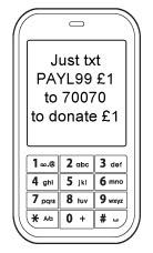 Donate via mobile