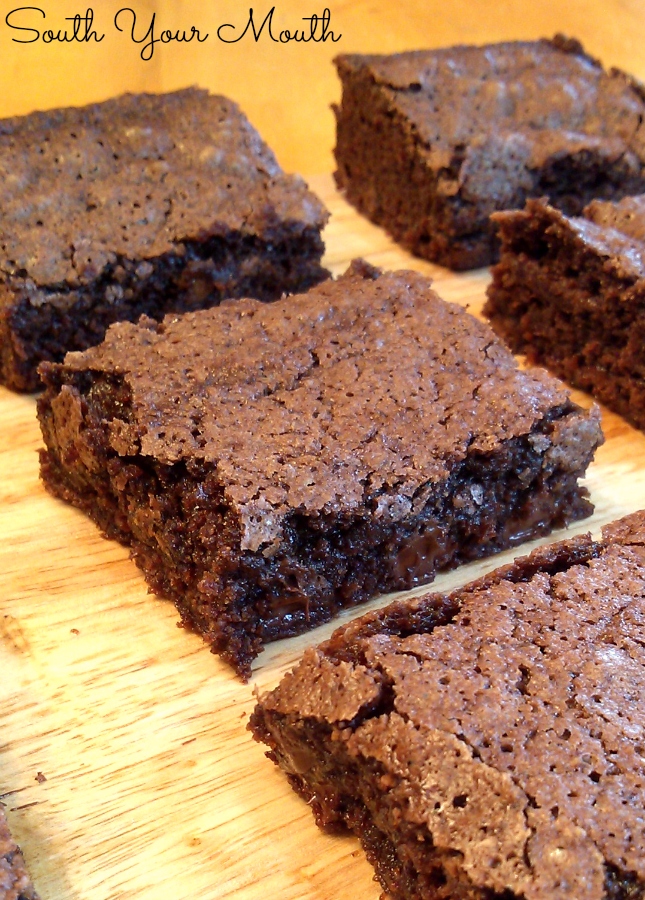 Fudgy Cocoa Brownies... moist chewy brownies made with cocoa.