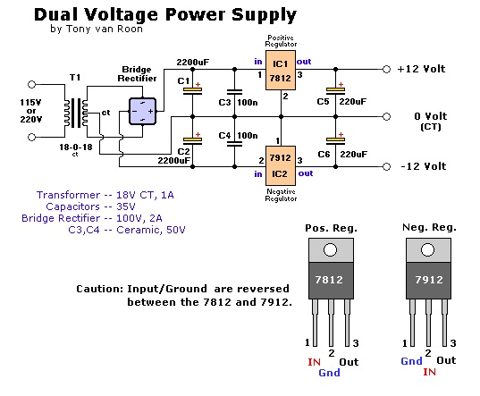 Electronic Circuit Componnent Data Lesson And Etc Dual Voltage