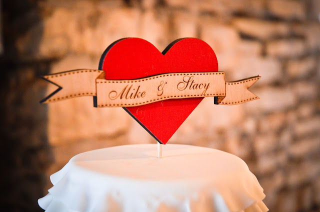 Vintage Chic Wedding Cake Topper