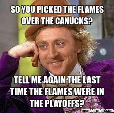 Canucks Flames Memes Condesceding Wonka
