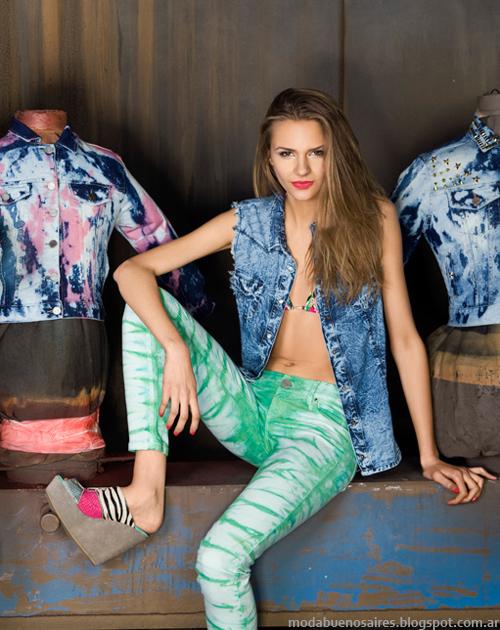 Moda primavera verano 2014 Ossira Jeans 2014.